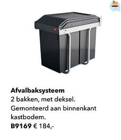 Afvalbaksysteem
