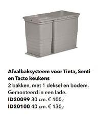 Afvalbaksysteem voor tinta, senti en tacto keukens-Huismerk - Kvik