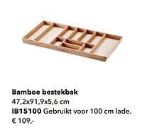 Bamboe bestekbak-Huismerk - Kvik