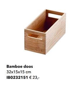 Bamboe doos