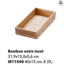 Bamboe extra inzet