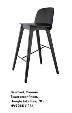 Barstoel, comma