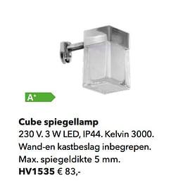 Cube spiegellamp