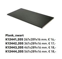 Plank, zwart