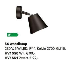 S6 wandlamp