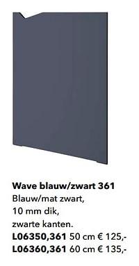 Wave blauw-zwart 361-Huismerk - Kvik