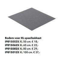 Bodem voor xl spoelbakkast-Huismerk - Kvik