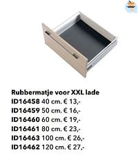 Rubbermatje voor xxl lade-Huismerk - Kvik