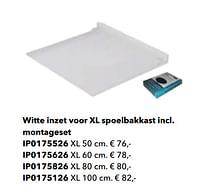 Witte inzet voor xl spoelbakkast incl. montageset-Huismerk - Kvik