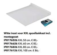 Witte inzet voor xxl spoelbakkast incl. montageset-Huismerk - Kvik