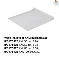 Witte inzet voor xxl spoelbakkast-Huismerk - Kvik