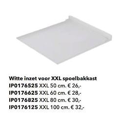 Witte inzet voor xxl spoelbakkast