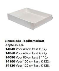 Binnenlade - badkamerkast-Huismerk - Kvik
