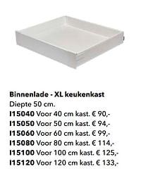 Binnenlade - xl keukenkast-Huismerk - Kvik