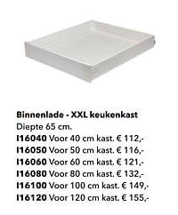 Binnenlade - xxl keukenkast-Huismerk - Kvik