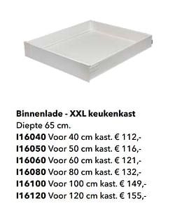 Binnenlade - xxl keukenkast