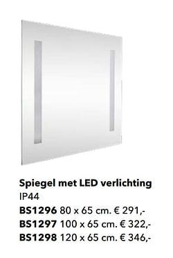 Spiegel met led verlichting