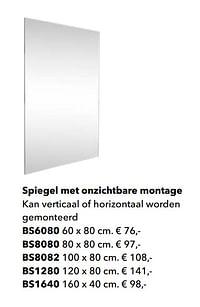 Spiegel met onzichtbare montage-Huismerk - Kvik