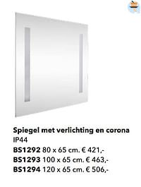 Spiegel met verlichting en corona-Huismerk - Kvik