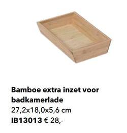 Bamboe extra inzet voor badkamerlade