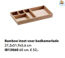 Bamboe inzet voor badkamerlade