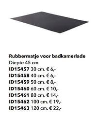 Rubbermatje voor badkamerlade-Huismerk - Kvik