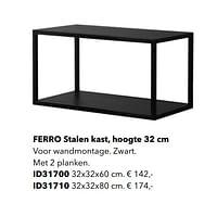 Ferro stalen kast-Huismerk - Kvik