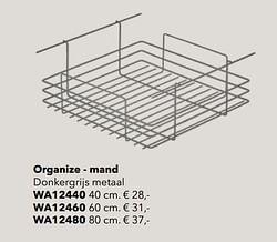 Organize - mand