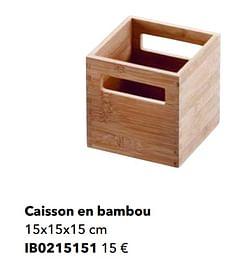 Caisson en bambou