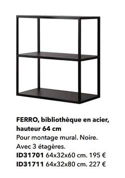 Ferro, bibliothèque en acier