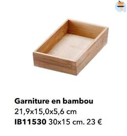Garniture en bambou