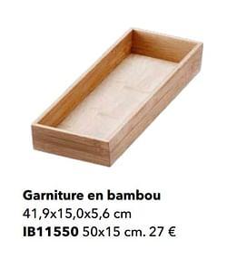 Garniture en bambou