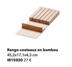 Range-couteaux en bambou