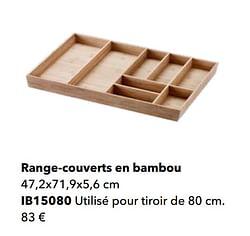 Range-couverts en bambou