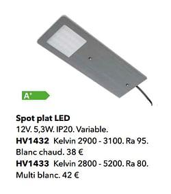 Spot plat led