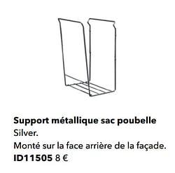 Support métallique sac poubelle