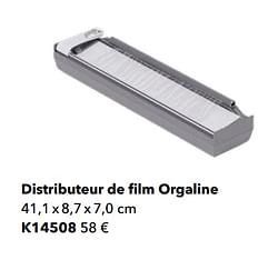 Distributeur de film orgaline