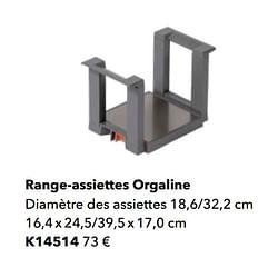 Range-assiettes orgaline