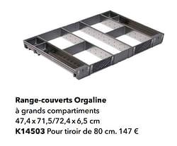 Range-couverts orgaline