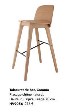 Tabouret de bar, comma