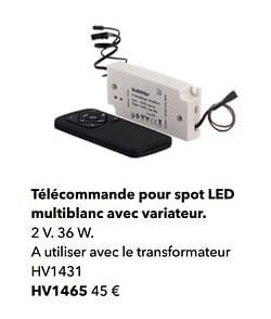 Télécommande pour spot led multiblanc avec variateur
