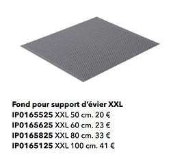Fond pour support d`évier xxl