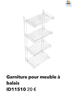 Garniture pour meuble à balais