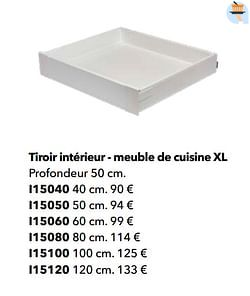 Tiroir intérieur - meuble de cuisine xl