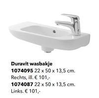 Duravit wasbakje-Huismerk - Kvik