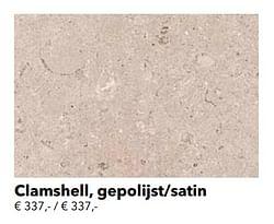 Clamshell, gepolijst-satin