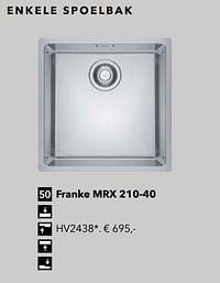 Franke mrx 210-40-Huismerk - Kvik