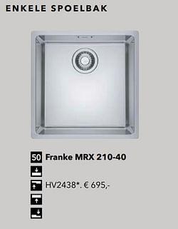 Franke mrx 210-40