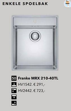Franke mrx 210-40tl