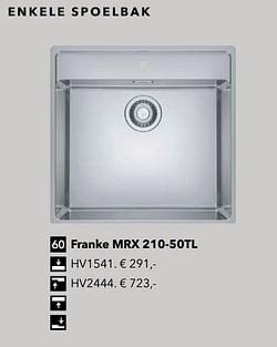 Franke mrx 210-50tl